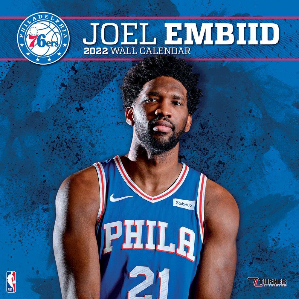 Philadelphia 76Ers Joel Embiid 2022 Wall Calendar