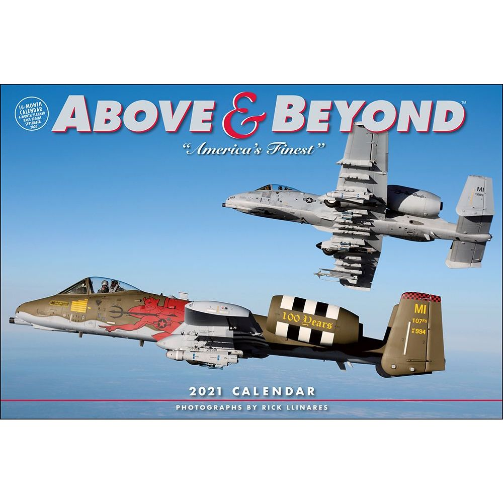 2021 Above And Beyond Wall Calendar