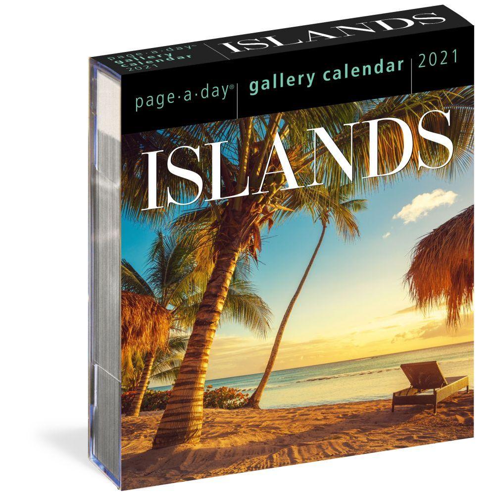 2021 Islands Gallery Desk Calendar