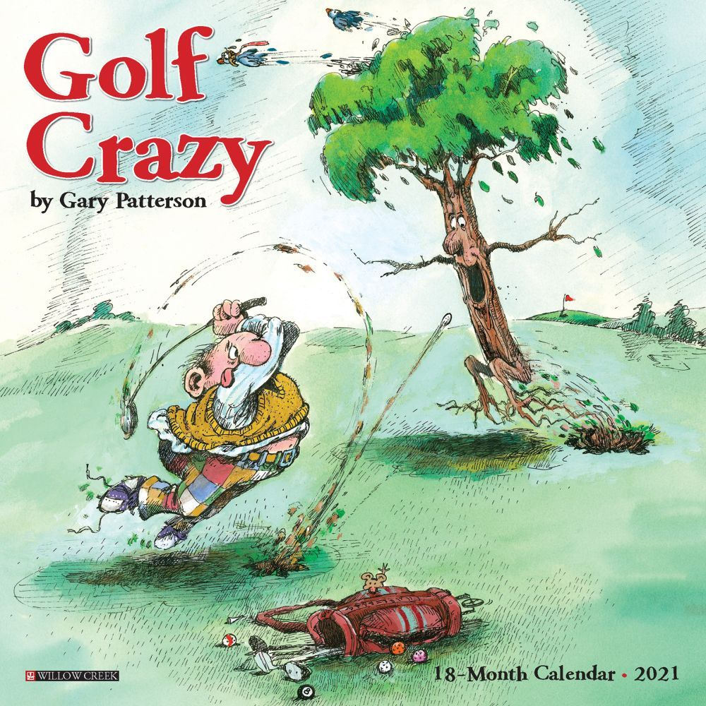 2021 Golf Crazy by Gary Patterson Mini Calendar
