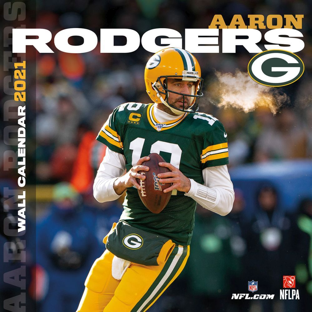Green Bay Packers Aaron Rodgers Player 2021 Wall Calendar