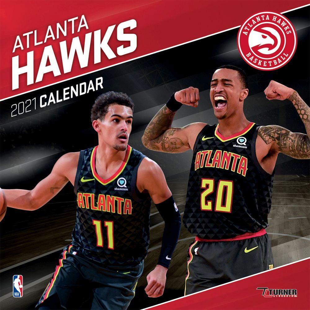 2021 Atlanta Hawks Team Wall Calendar