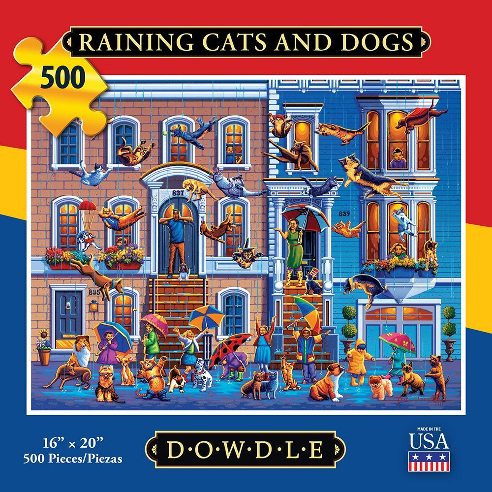 Best Raining Cats and Dogs 500pc Puzzle You Can Buy