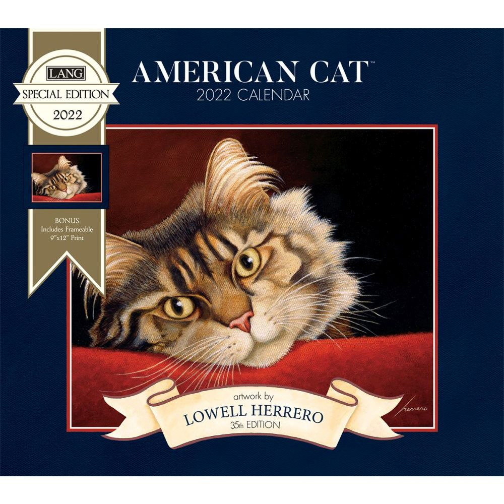 American Cat 2022 Special Edition Wall Calendar