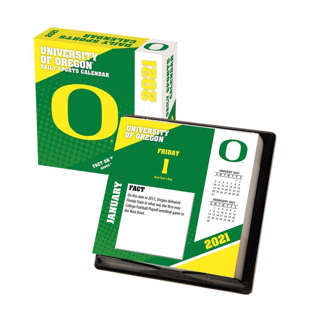 2021 Oregon Ducks Desk Calendar