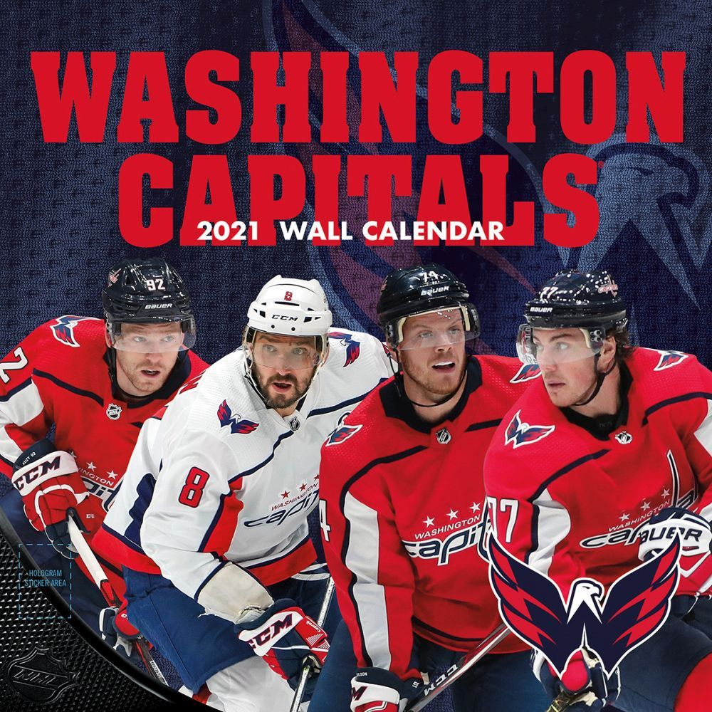 2021 Washington Capitals Team Wall Calendar