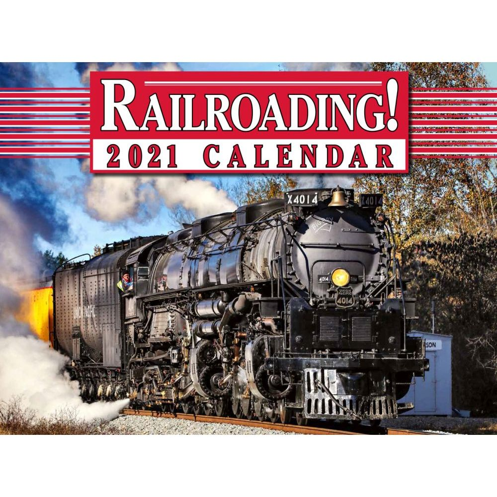 2021 Trains Railroading Wall Calendar