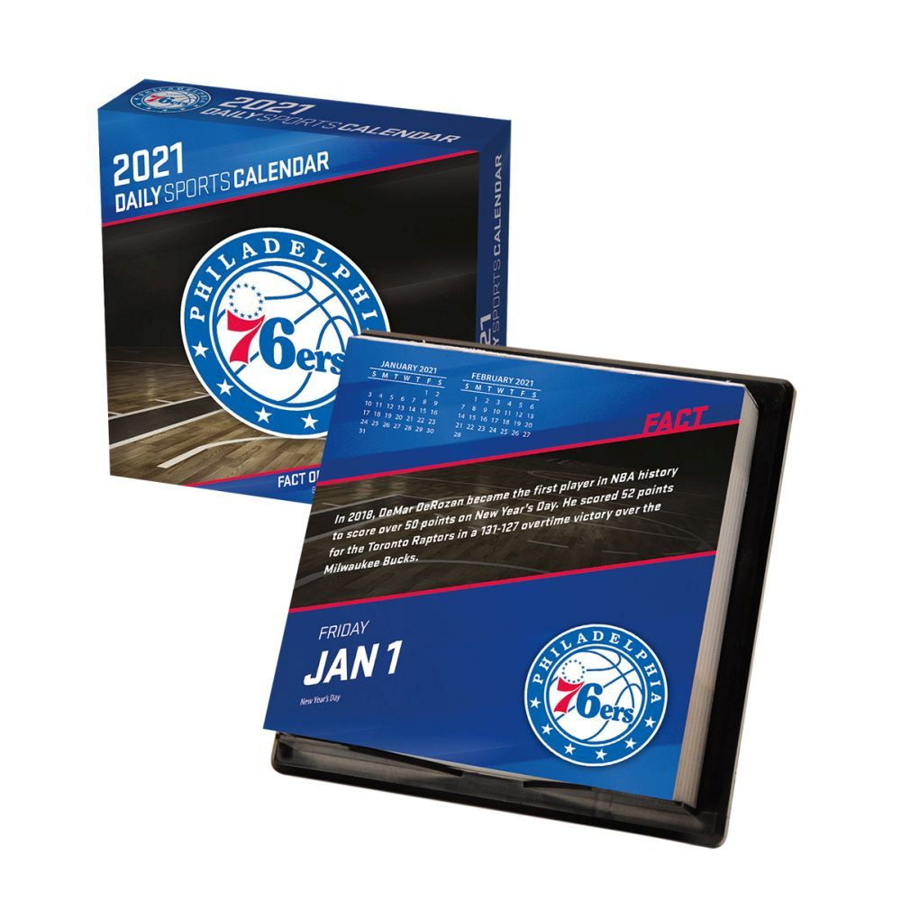 2021 NBA Philadelphia 76ers Desk Calendar