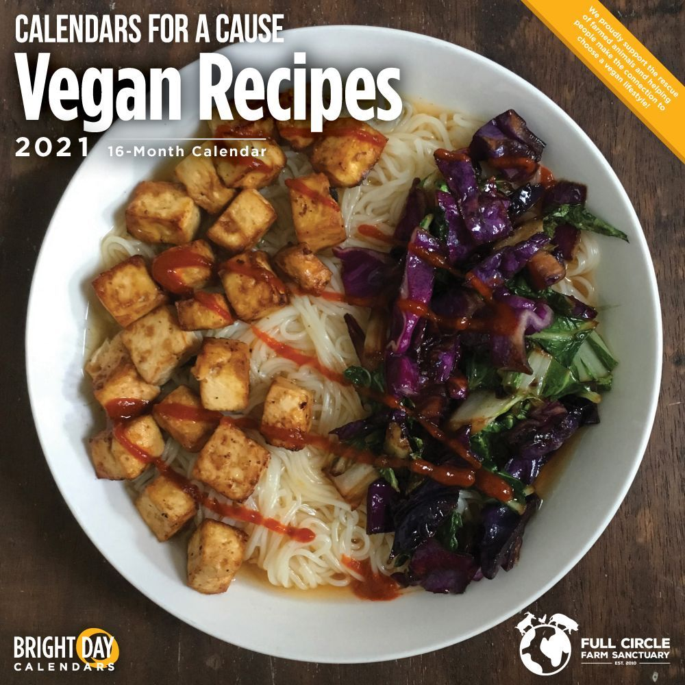 2021 Vegan Recipes Wall Calendar