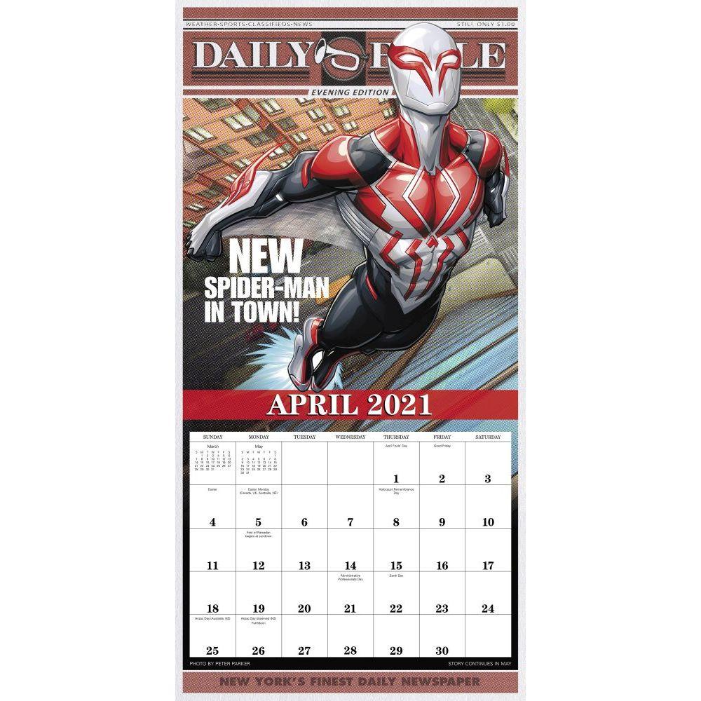 Spider Man Wall Calendar - Calendars.com