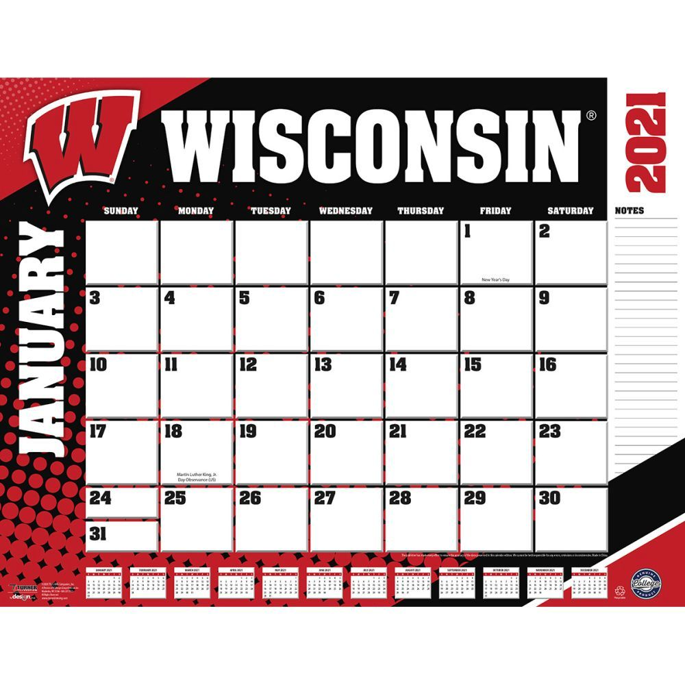 Wisconsin   Badger   Desk   Pad