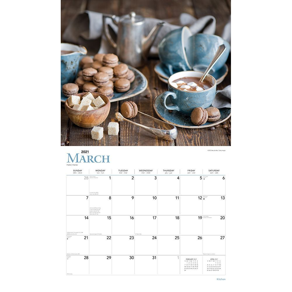 Kitchen Deluxe Wall Calendar Calendars Com