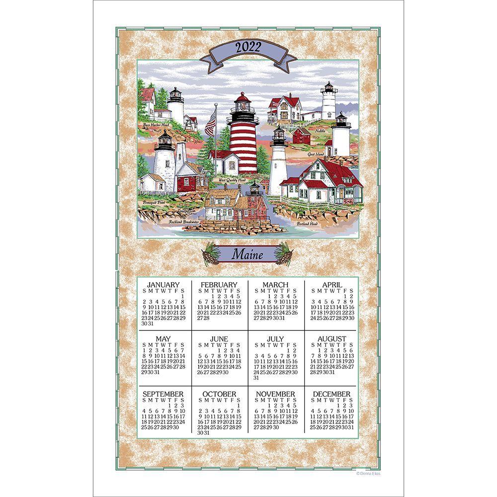 Maine Lighthouse 2022 Kitchen Towel Calendar