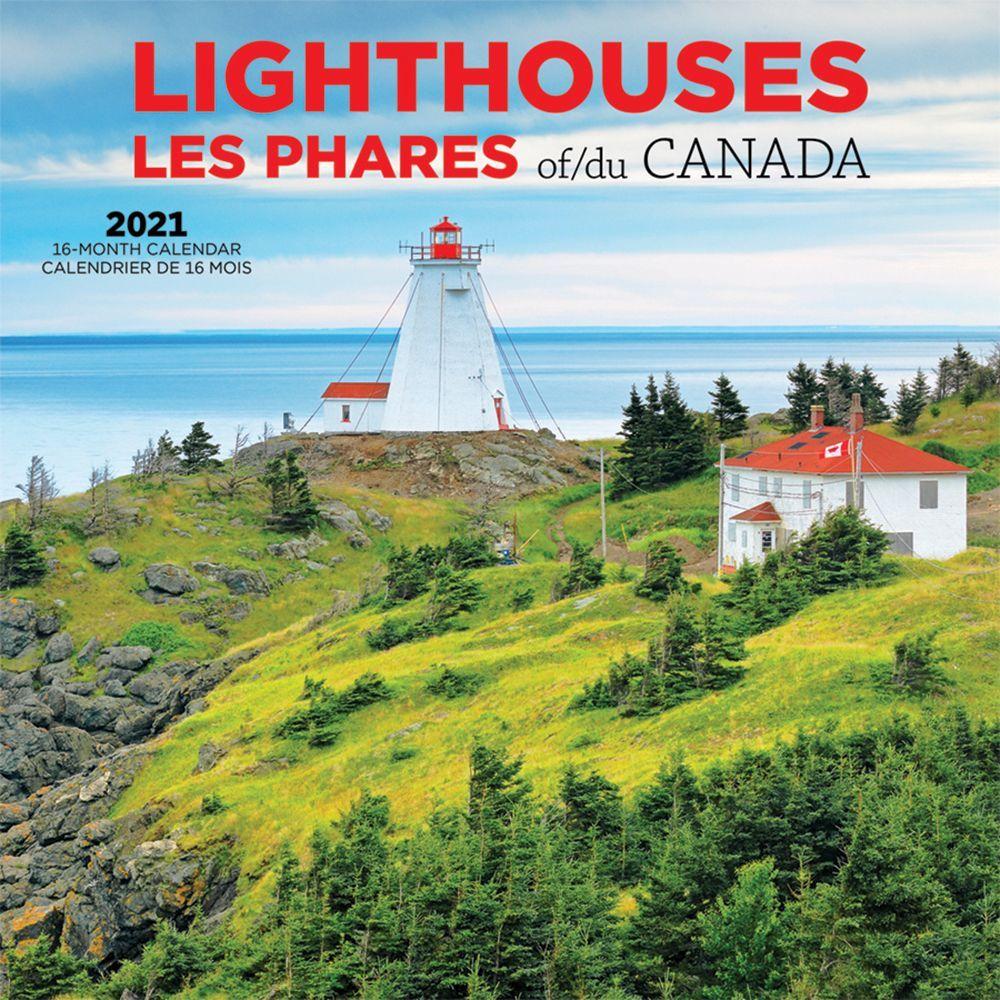 2021 Lighthouses of Canada Wall Calendar