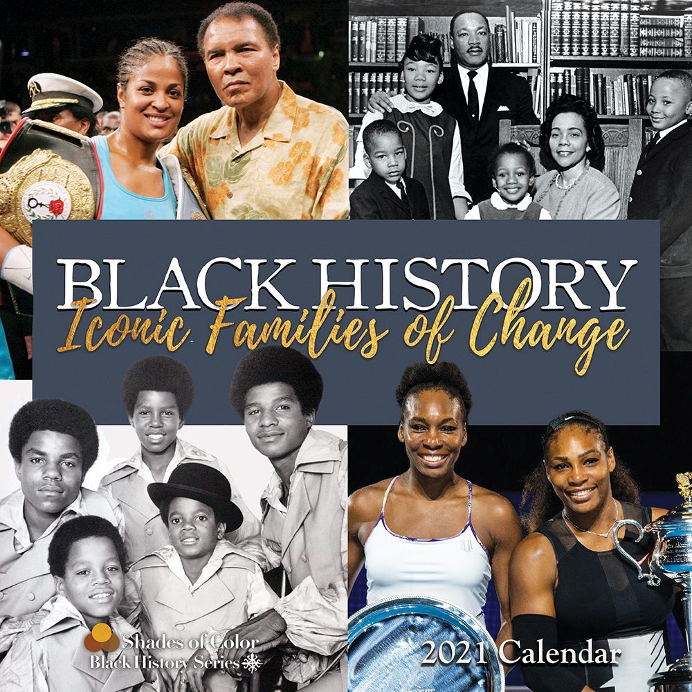 2021 Black History Iconic Families Wall Calendar