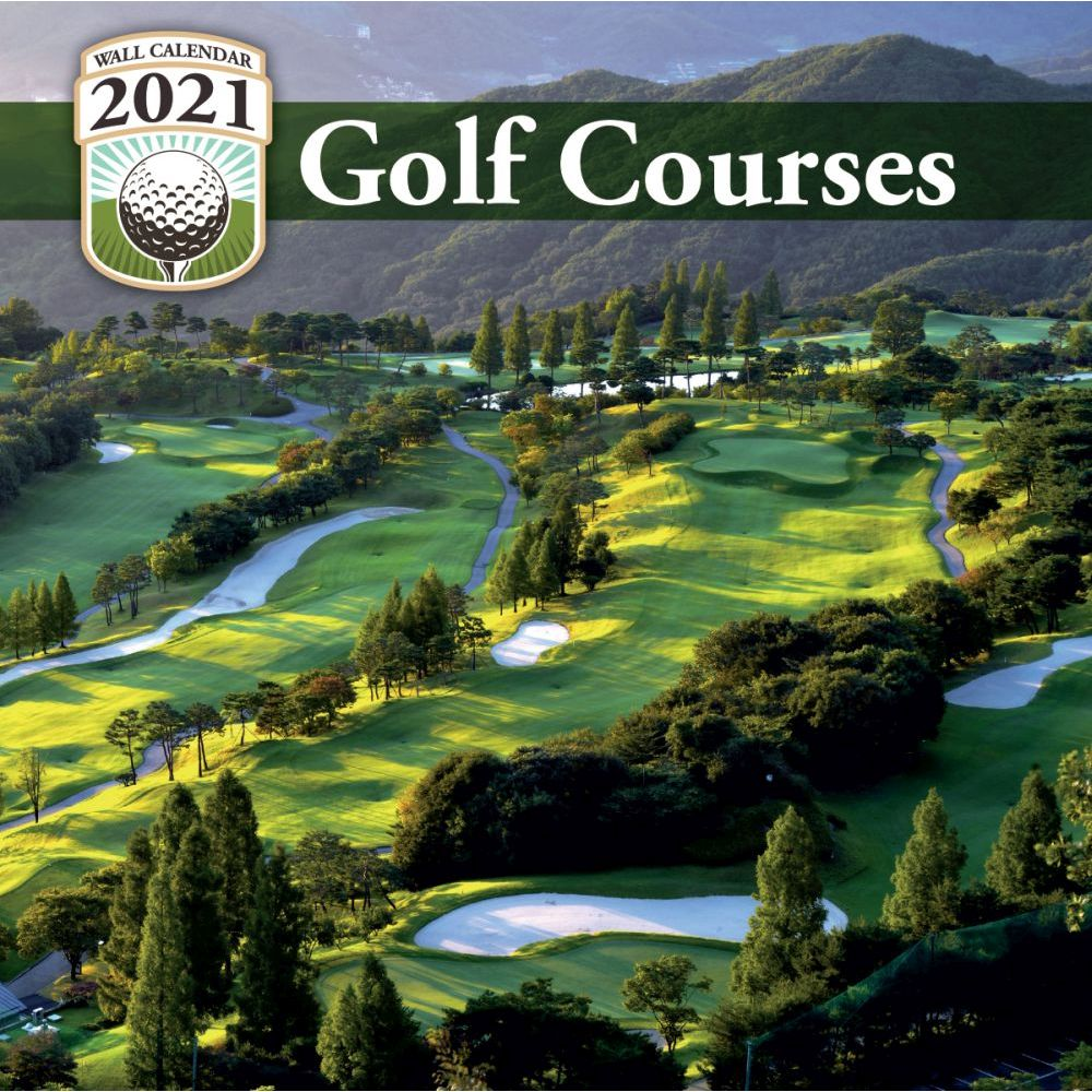 2021 Golf Courses Mini Wall Calendar