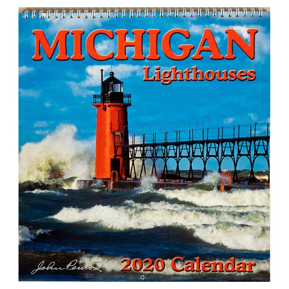 2021 Michigan Lighthouse Wall Calendar