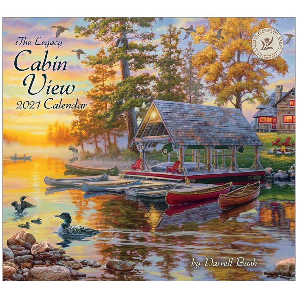 2021 Cabin View Bush Wall Calendar