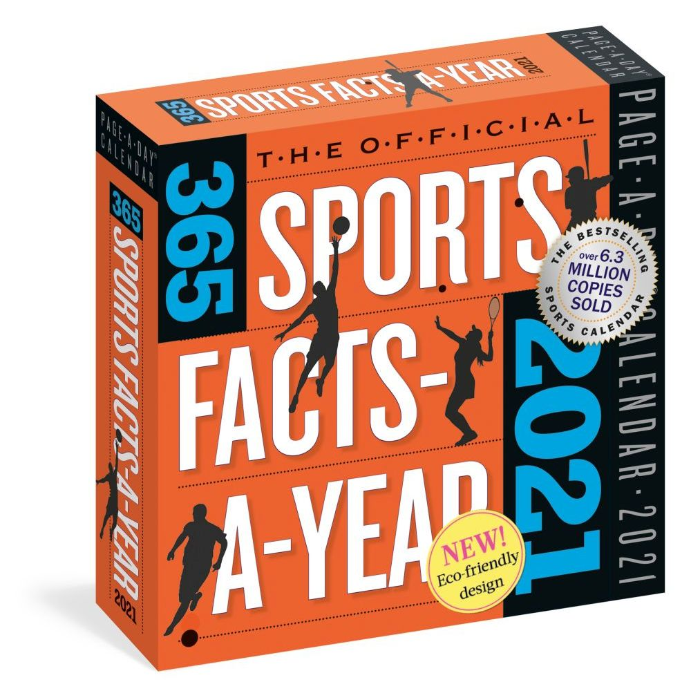 365 Sports Facts 2021 Desk Calendar