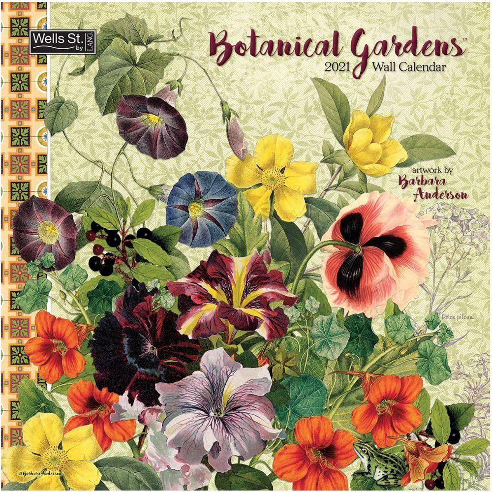 Botanical Gardens 2021 Wall Calendar