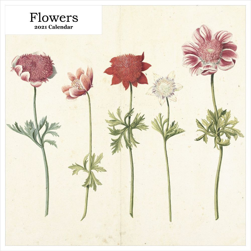 2021 Flowers Wall Calendar