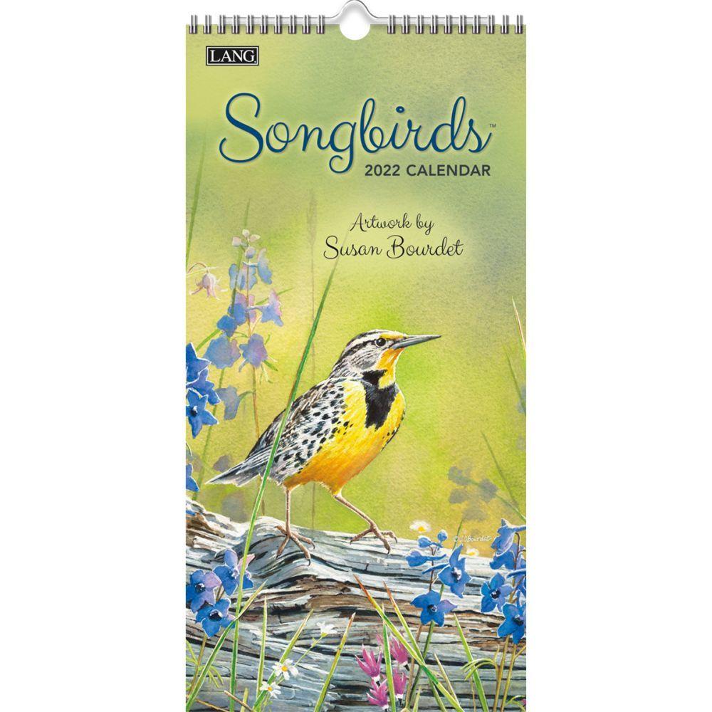 Songbirds 2022 Vertical Wall Calendar