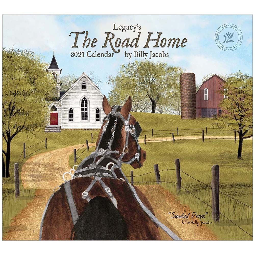 2021 Road Home Jacobs Wall Calendar