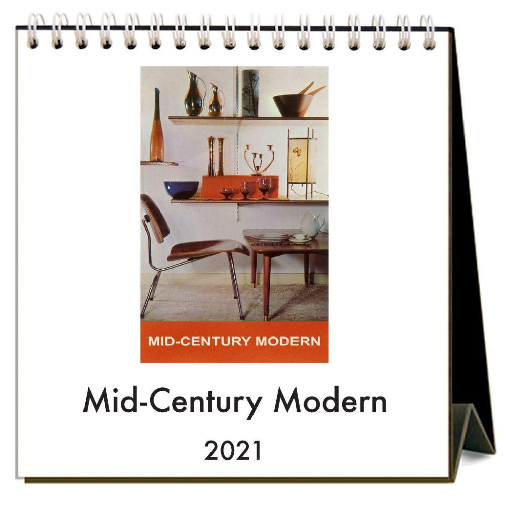 2021 Mid-Century Modern Easel Calendar