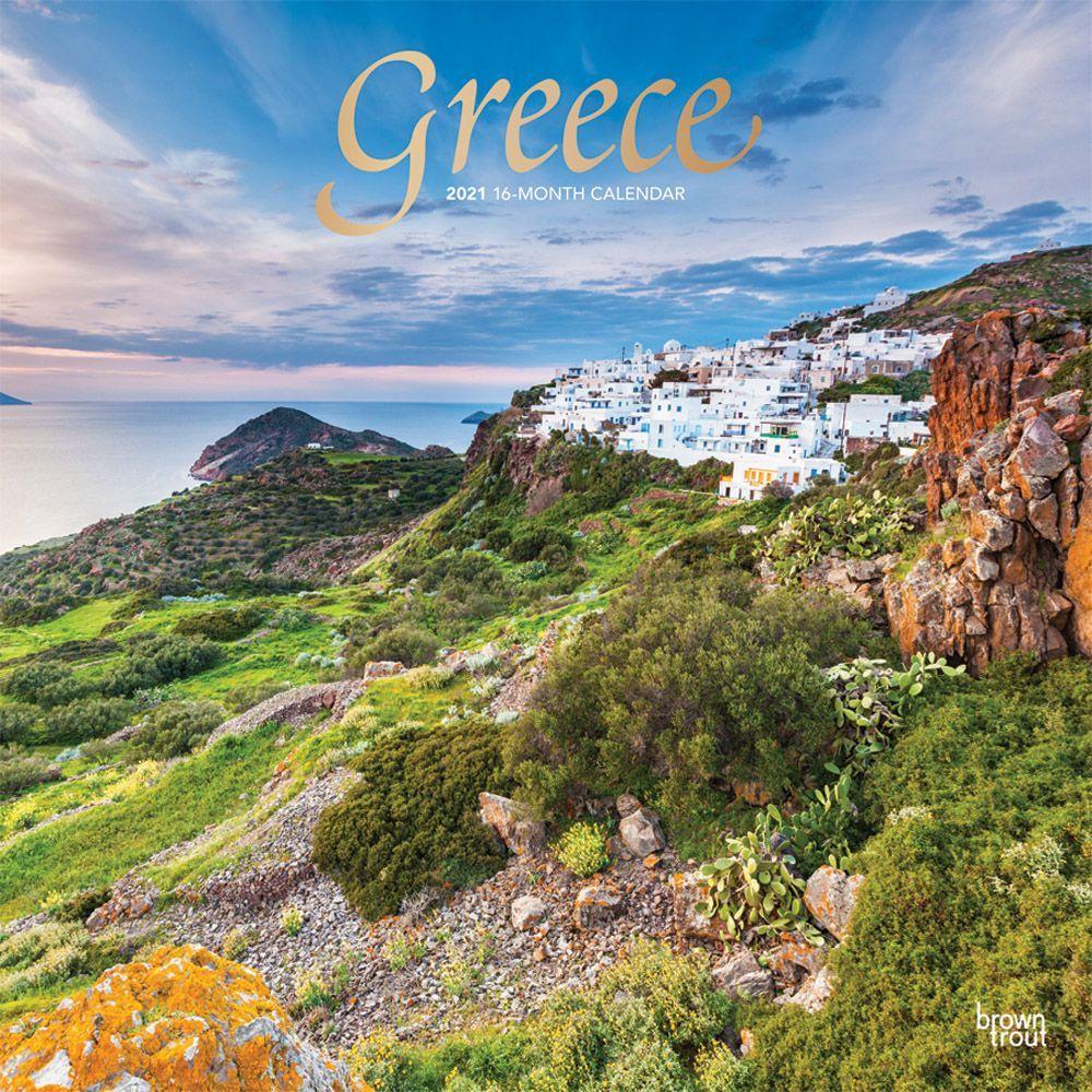 Greece 2021 Wall Calendar