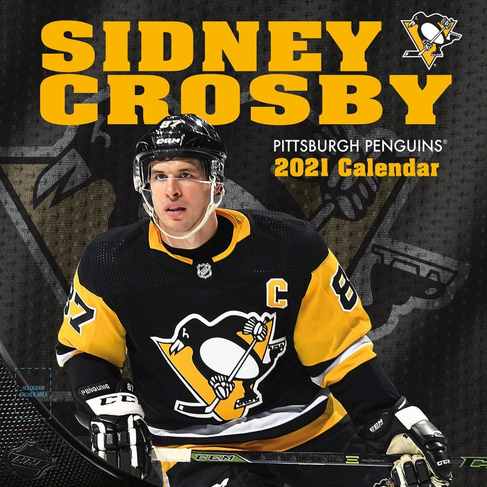 2021 Pittsburgh Penguins Sidney Crosby Player Wall Calendar
