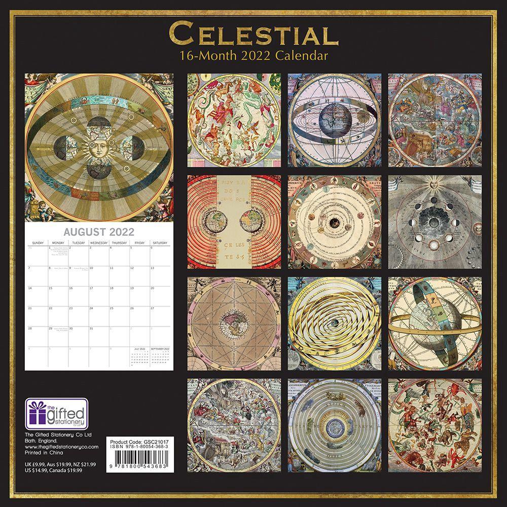 Celestial Calendar 2022.Celestial 2022 Wall Calendar Calendars Com