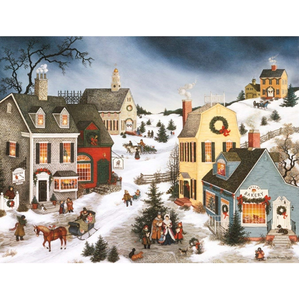 Caroling-In-The-Village-Christmas-Cards-1