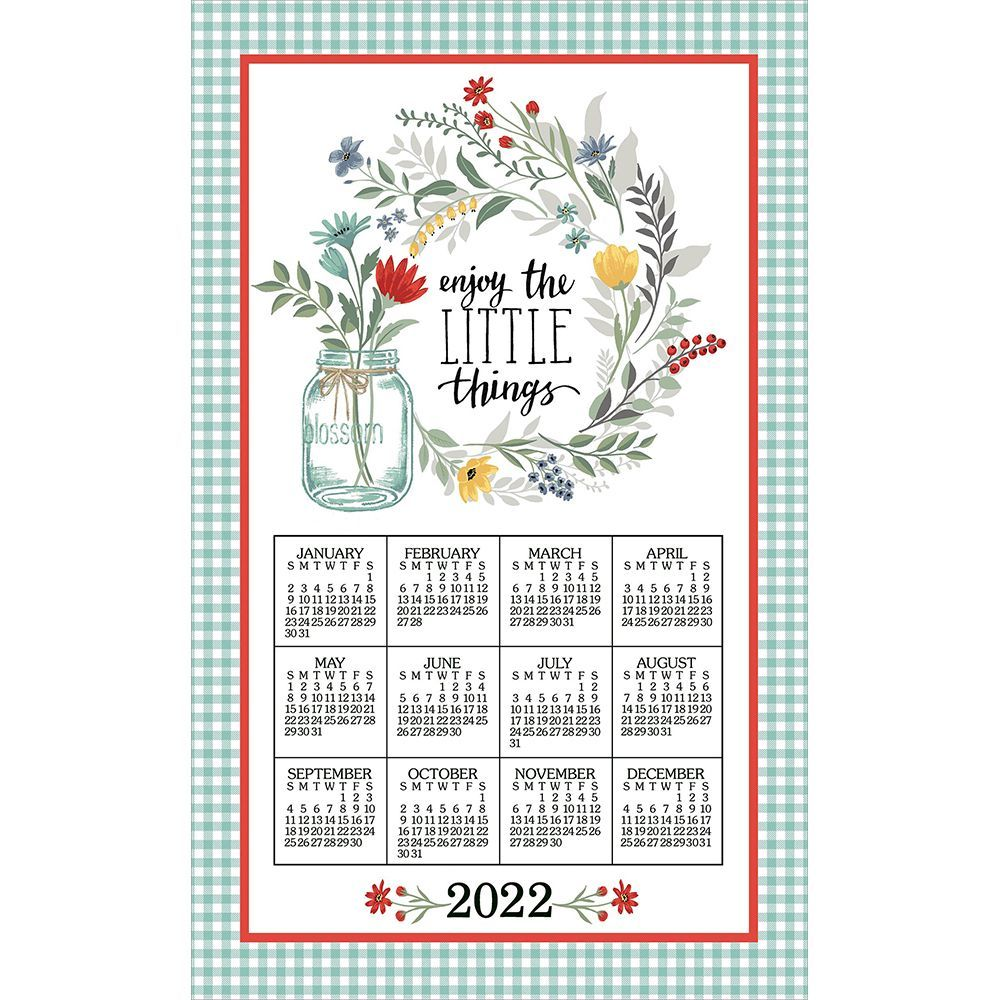 Blooming Thoughts 2022 Kitchen Towel Calendar