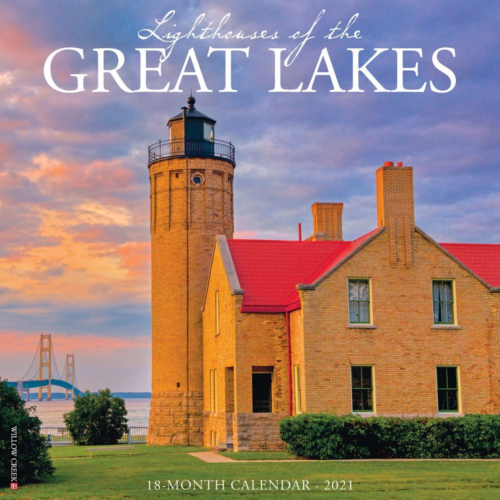 2021 Lighthouses of the Great Lakes Wall Calendar