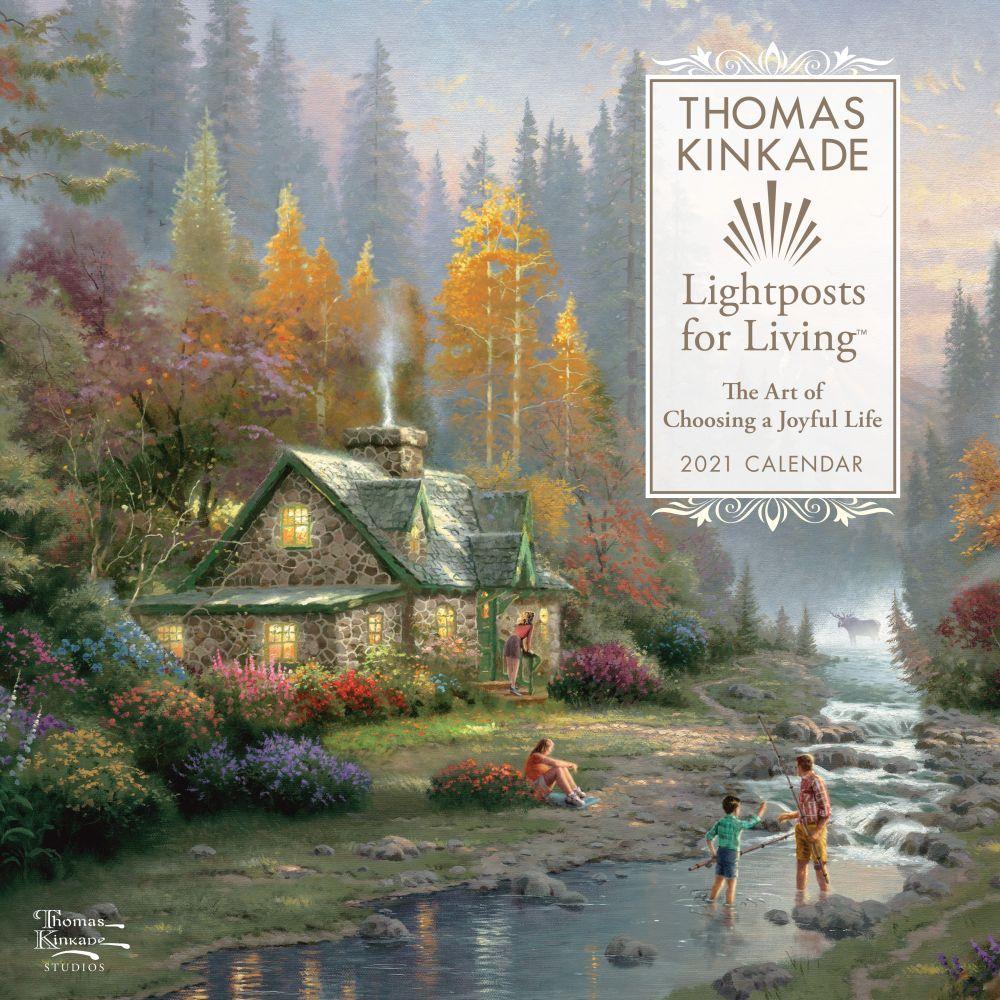Thomas Kinkade Lightposts for Living 2021 Wall Calendar