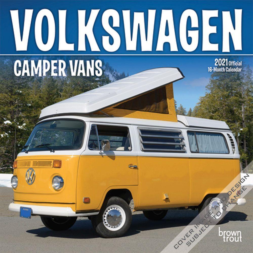 Volkswagen Camper Vans 2021 Mini Wall Calendar