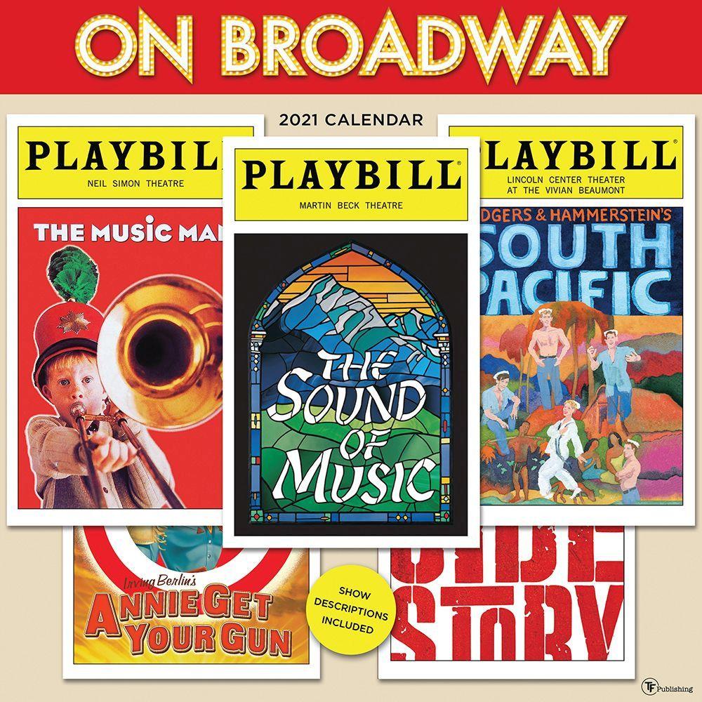 On Broadway! 2021 Wall Calendar