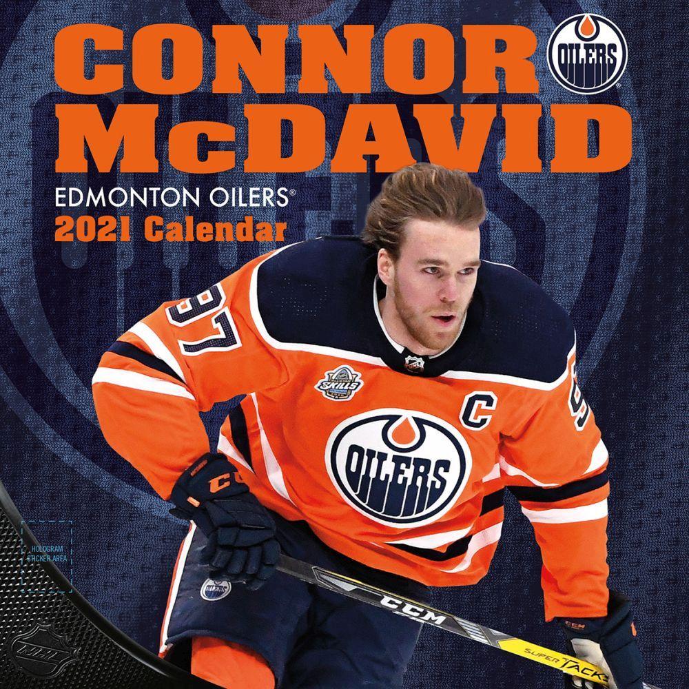 2021 Edmonton Oilers Connor Mcdavid Player Wall Calendar