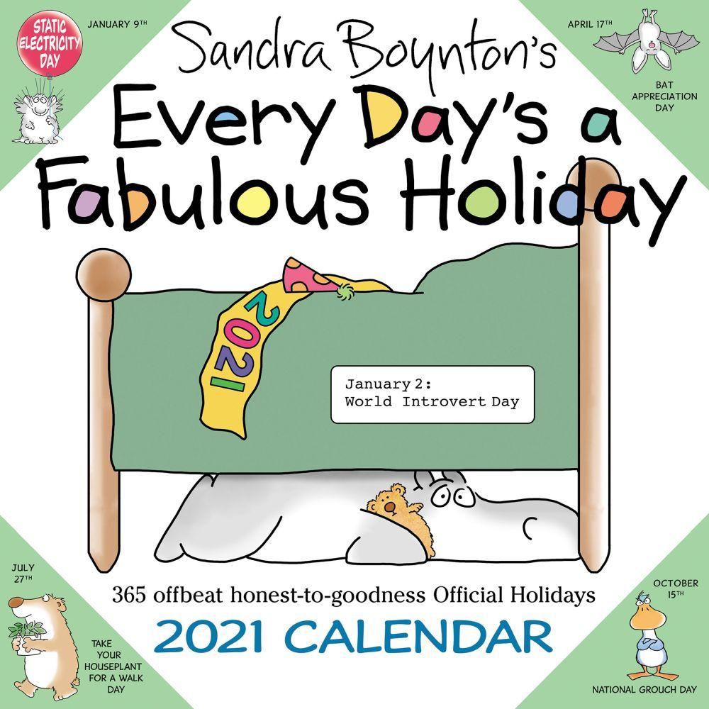 2021 Boyntons Every Days Fabulous Holiday Wall Calendar