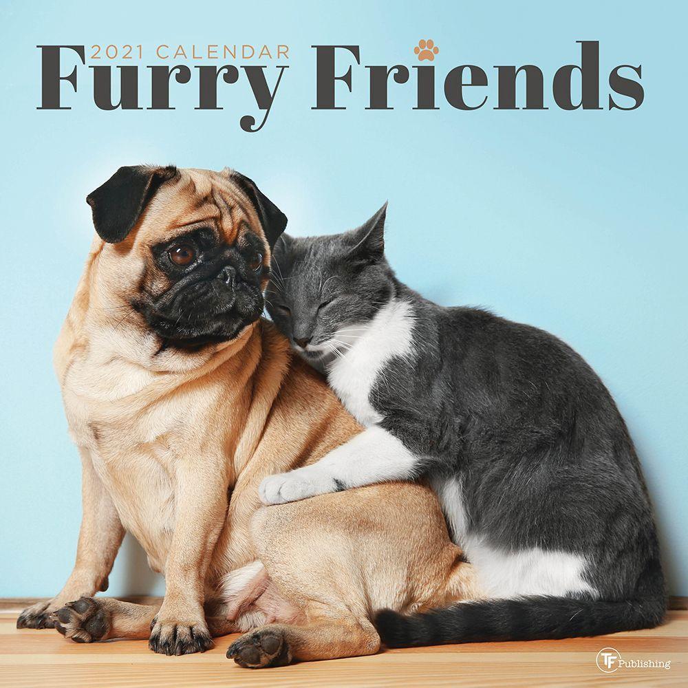 2021 Furry Friends Wall Calendar