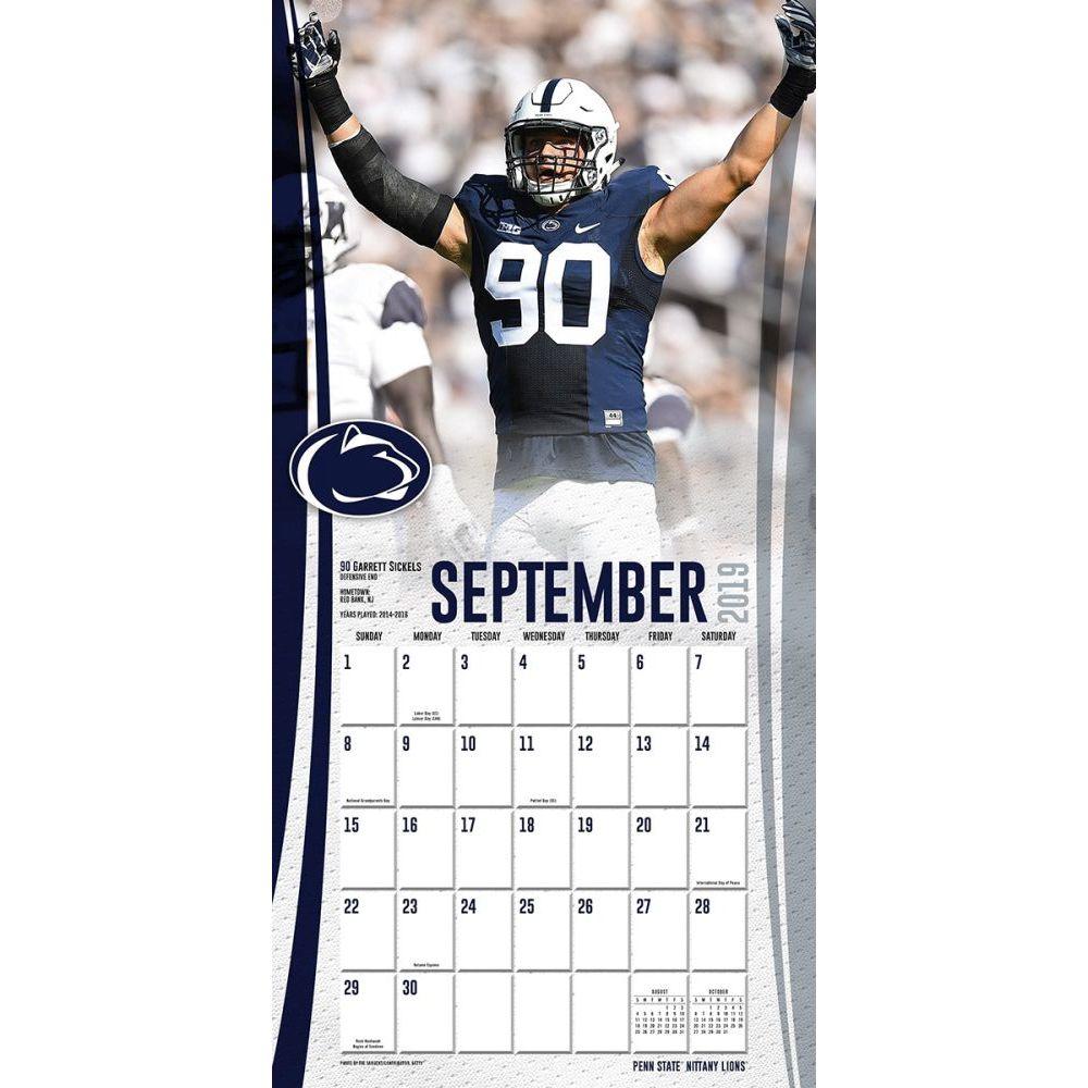 Penn State 2022 Calendar.Penn State Nittany Lions Wall Calendar Calendars Com