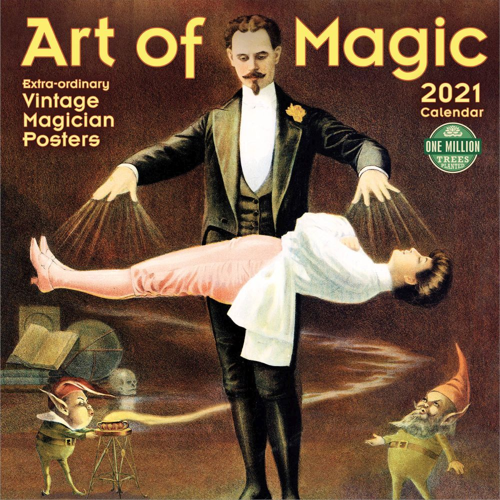 2021 Art of Magic Vintage Art Wall Calendar