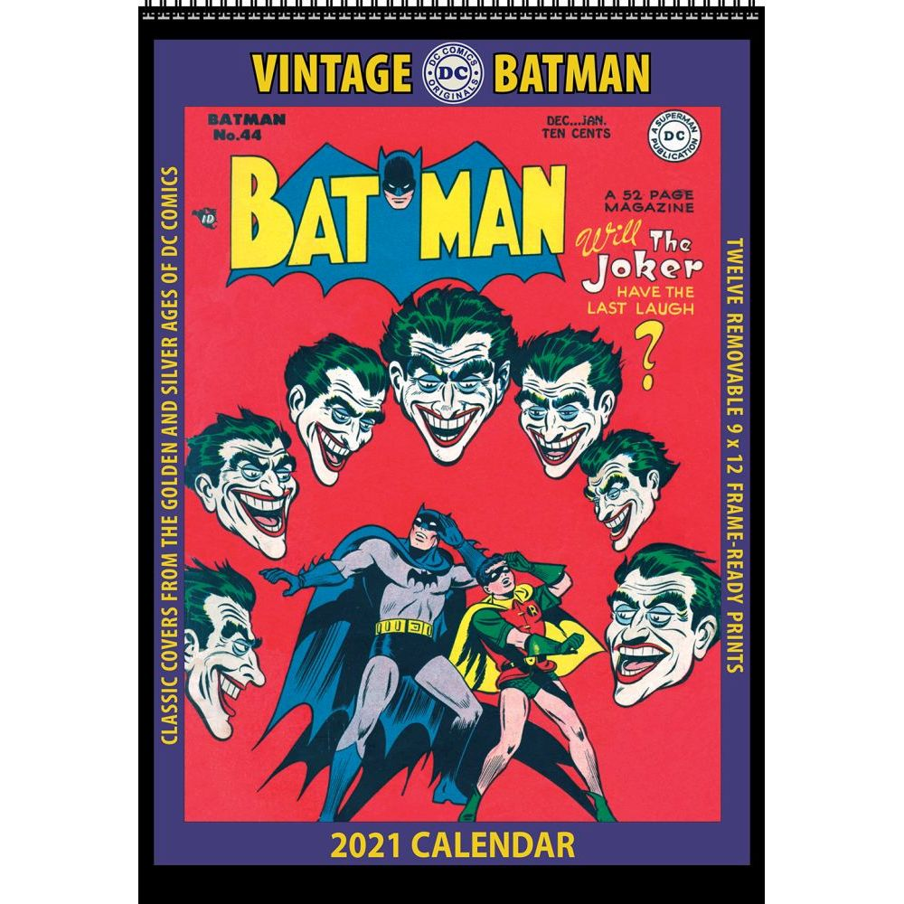 2021 Batman Vintage Poster Wall Calendar