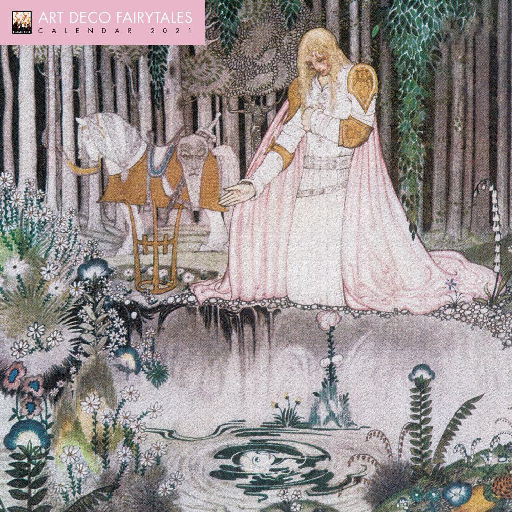 2021 Art Deco Fairytales Wall Calendar