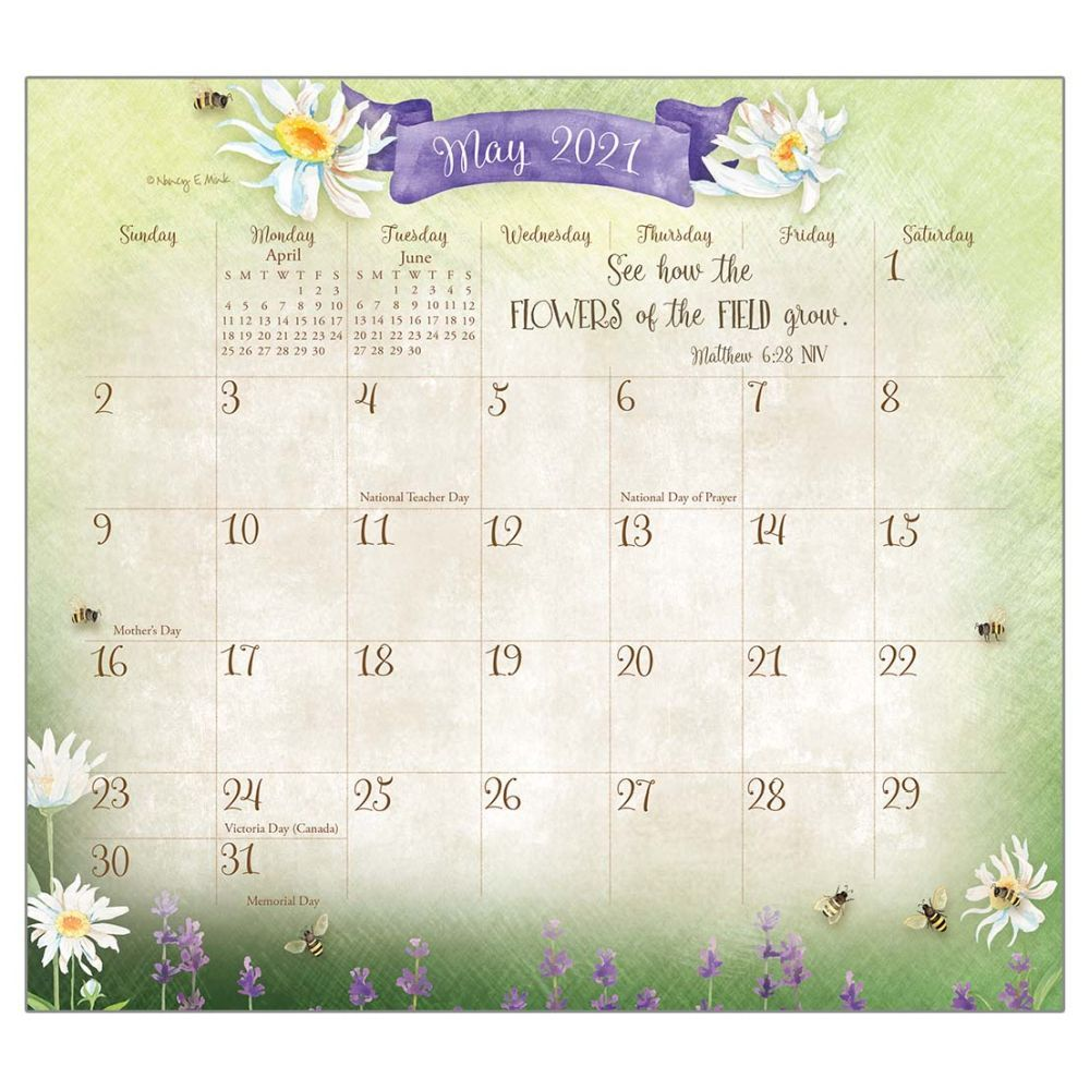2021 Faithful Heart & Home Magnetic Calendar