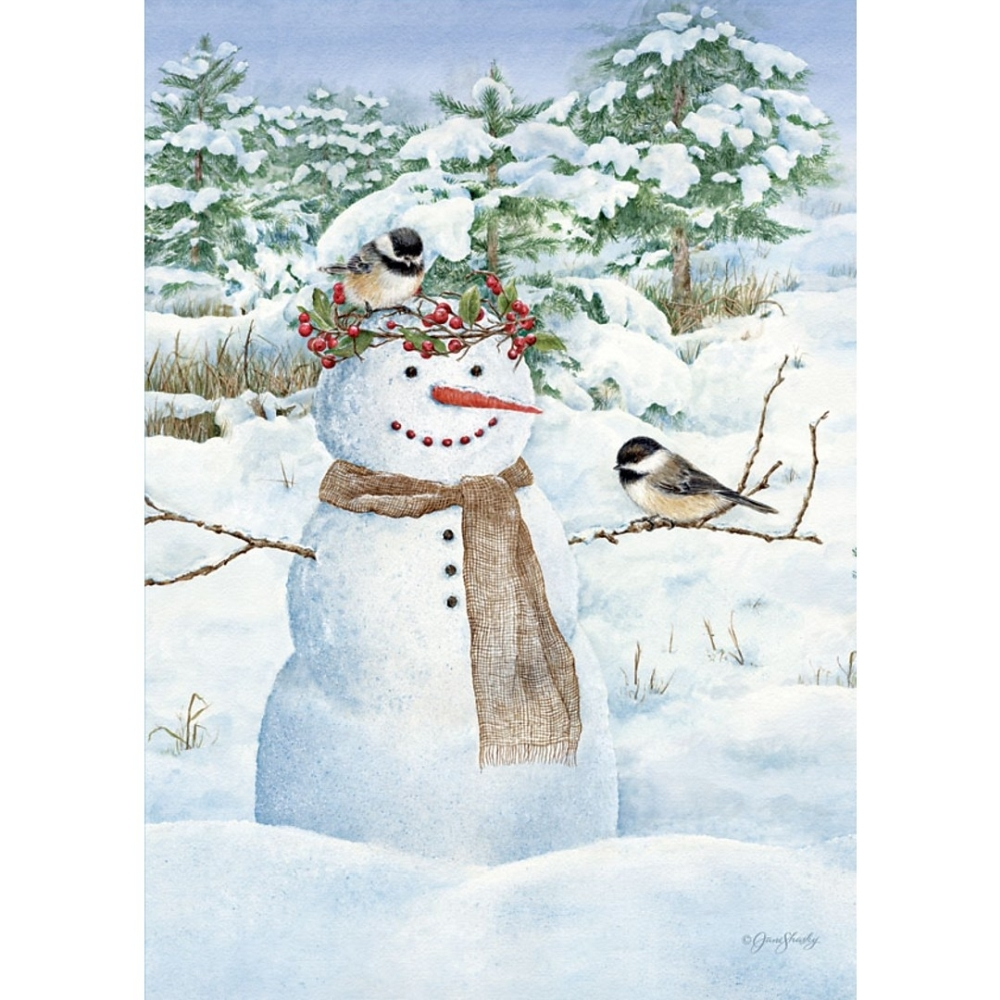Chickadee-Snowman-Outdoor-Flag-Mini---12.5-x-18-1