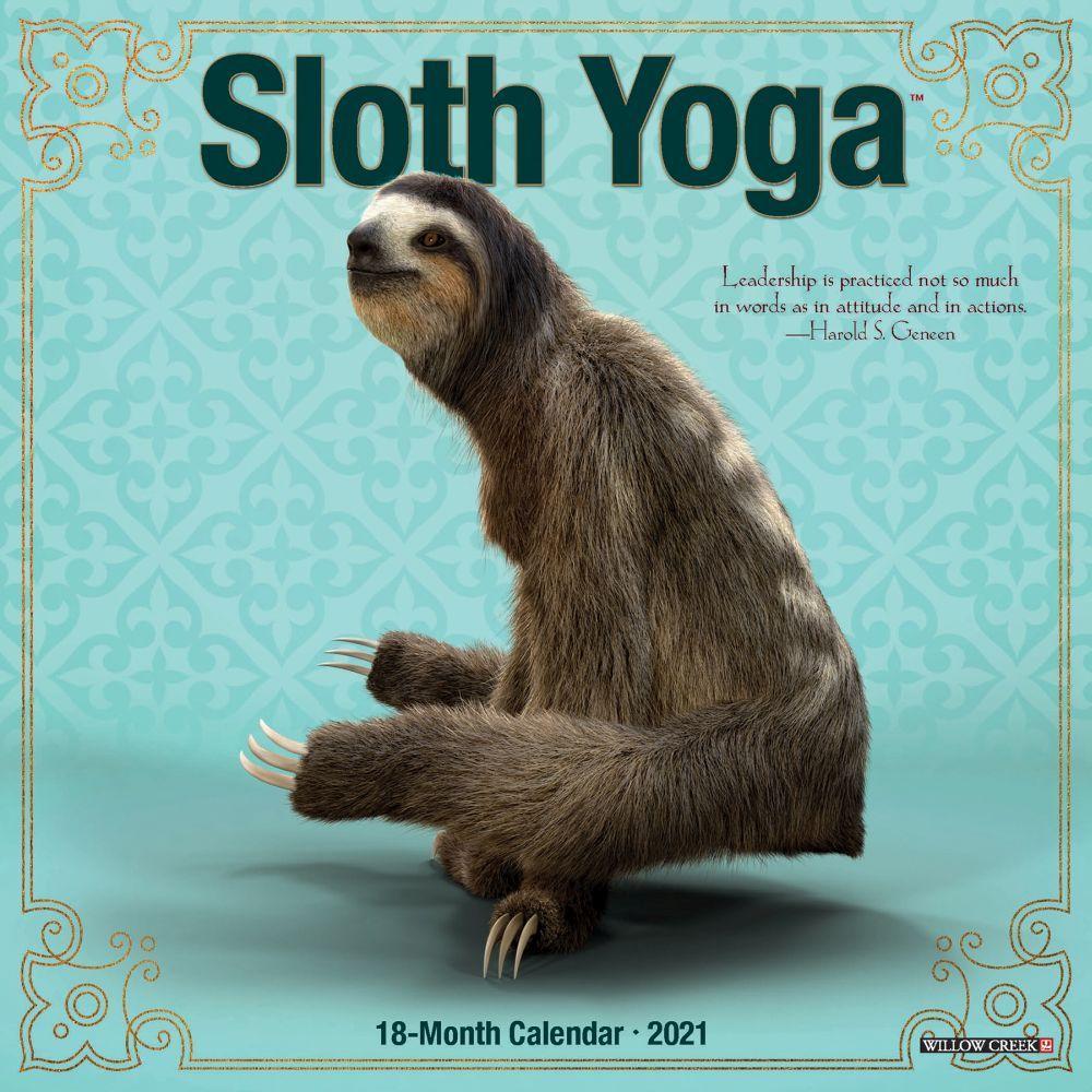 2021 Sloth Yoga Mini Wall Calendar