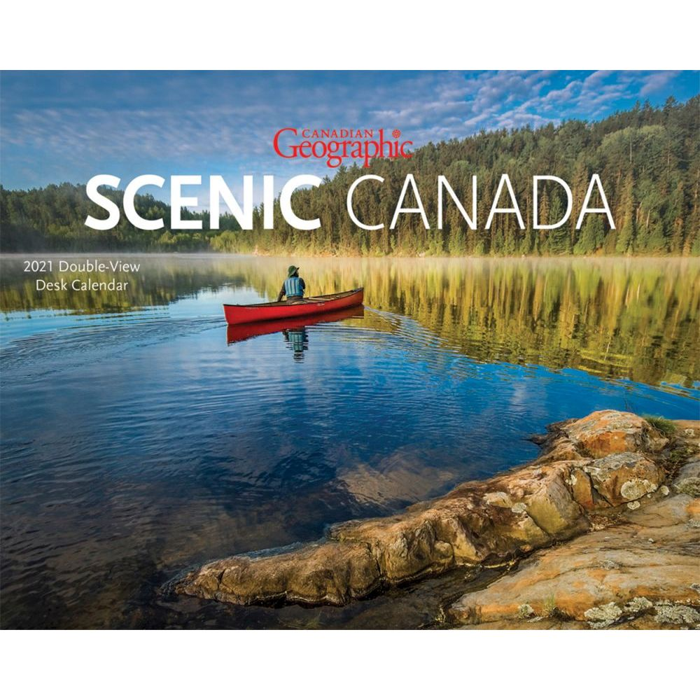 2021 Canadian Geographic Scenic Easel Calendar