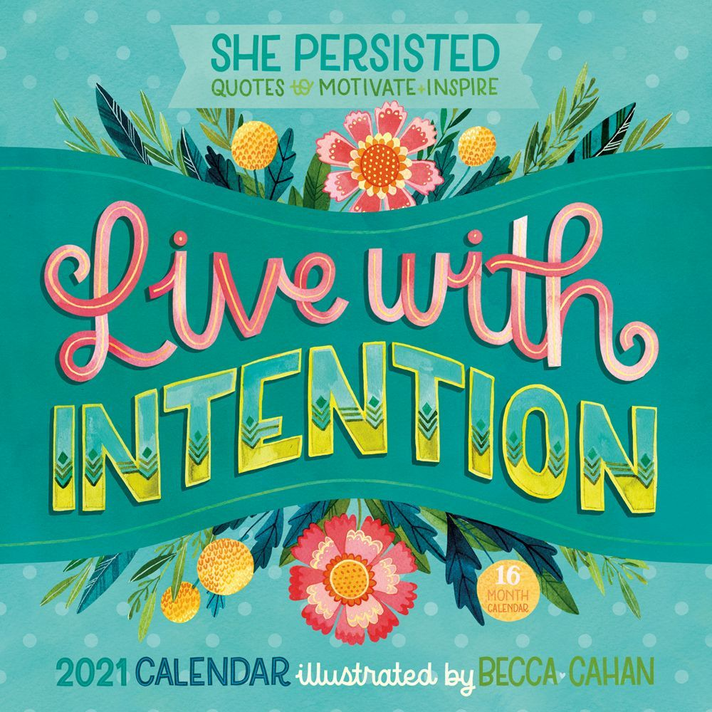 2021 She Persisted Quotes to Motivate Wall Calendar