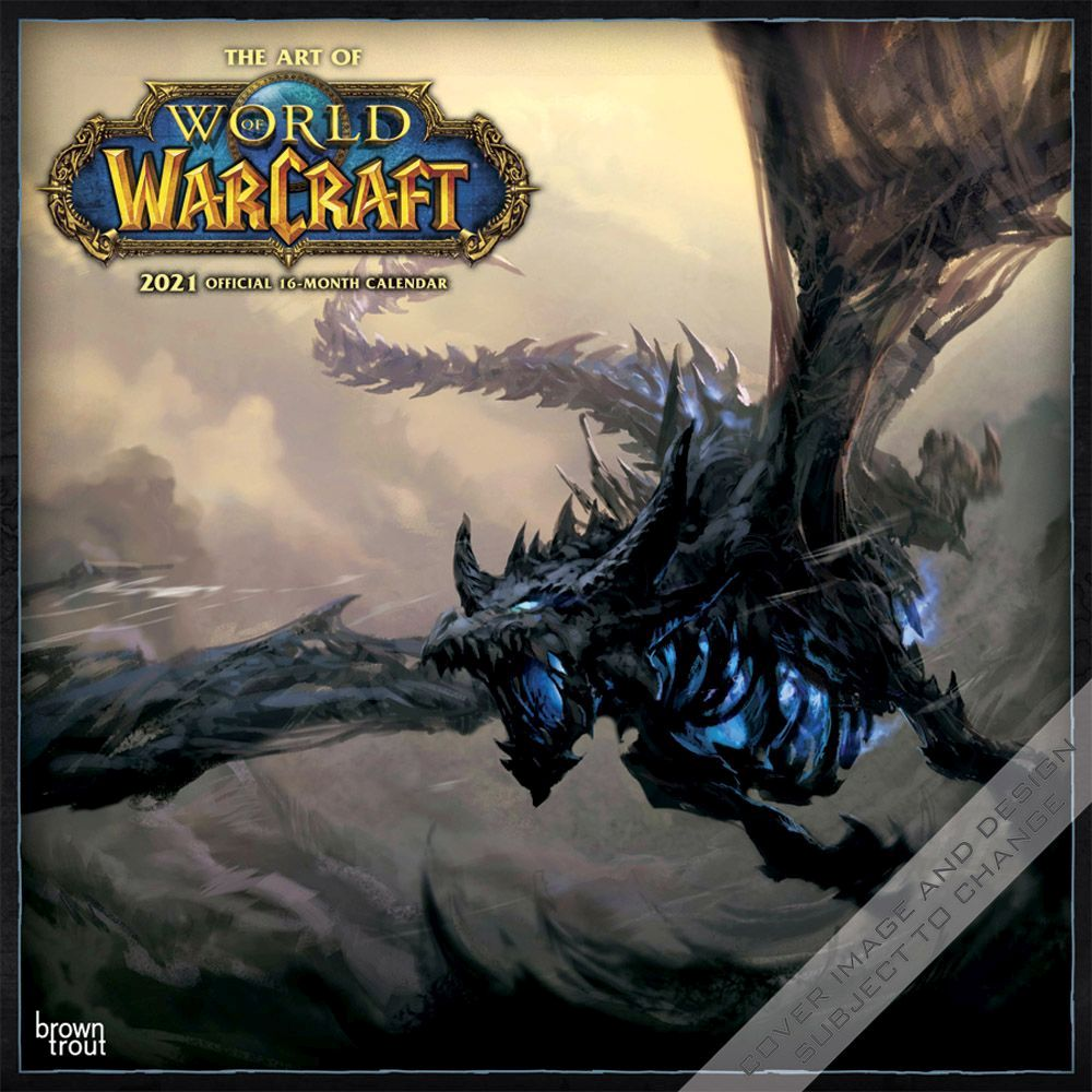 2021 World of Warcraft Wall Calendar